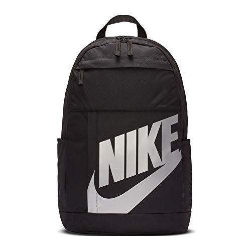 Nike Unisex_Adult Elemente 2.0 Ruksack Backpack, 014 Black/Metallic Silve, standard size