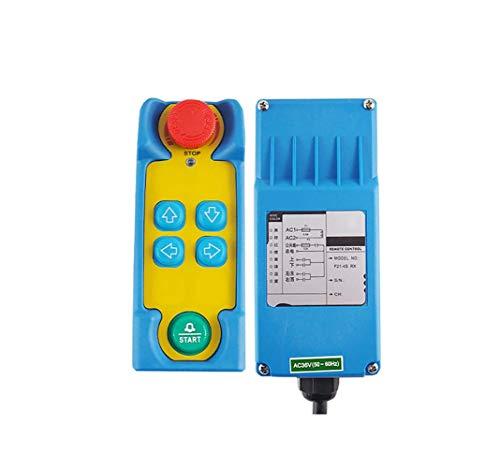 MXBAOHENG industriële kraan afstandsbediening hijskraan Telecontrol F21-4S draadloze bediening voor kraan met 1 zender en 1 ontvanger, 220V