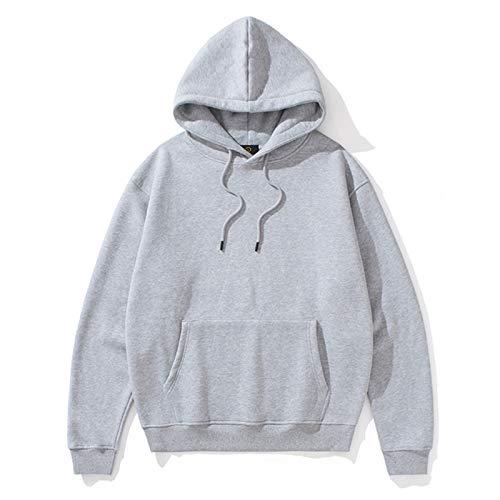 NXLWXN Sweatshirt Crew Neck Trui Trui Hoodie Heren En Dames Effen Kleur Hoodies Plus Kasjmier Winter, Grijs, XL
