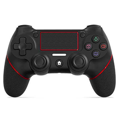 PS4 Wireless Controller SHINEZONE Game Controller with Built-in Speaker/Gyro/Double Vibration/Touch Panel Gamepad for PS4/Pro/Slim/PS3/PC...