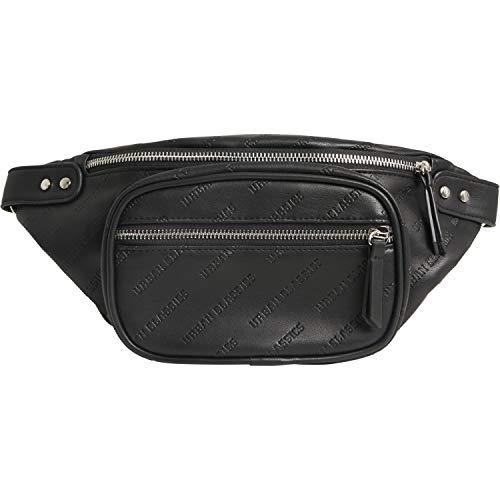 Urban Classics Borsa da cintura unisex in finta pelle con scomparto anteriore e principale, colore nero o marrone, taglia unica, Nero , 35 cm