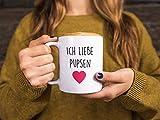 TassenTicker – Ich Liebe Pupsen – Kaffee/Tee/Becher/lustig/Arbeit/Büro/Kollegen/Chef/Geschenk/ – Hochwertige beidseitig Bedruckt - 4