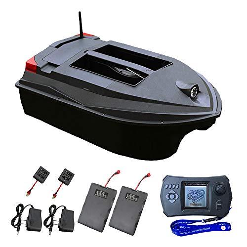 YOUMI Bait Boat, Bait Boat Intelligent Positioning PGS, Doppia Frequenza dei Pesci del Sonar Cerca Barche, Pesca Esterna della Strumento con Searchlight, Nero.