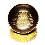 DLVKHKL Mantra Buda patrón tibetano canto tazón Yoga Meditación Bowls Set con doble superficie mazo y cojín de seda promueve