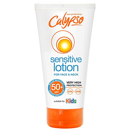 Calypso Sensitive Lotion For Face & Neck | SPF50+ | Suitable for Kids |...