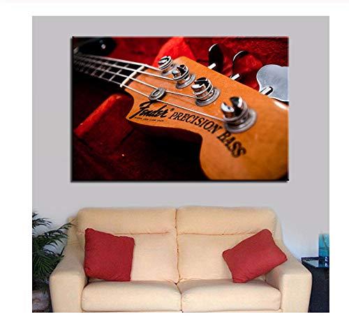 hutianyu kunstwerk poster HD prints Home Decoration 1 stuk muziekinstrumenten slaapkamer muurkunst modulaire gitaar afbeeldingen canvas schilderij