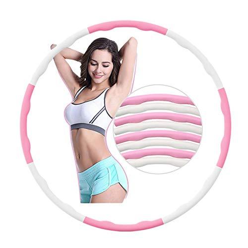 Fitness Reifen Hula Hoop Erwachsene Kinder Weich Massage 1KG 8 Teiliger Abnehmbarer Hula-Hoop für Frauen Gewichtsreduktion Bauchmuskelkonturen Training Büro