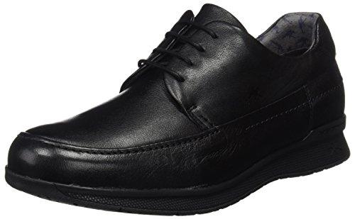 Fluchos Tauro, Zapatos de Cordones Derby Hombre, Negro (Vacheta Negro Marino Negro), 40 EU