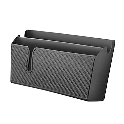 HUAER Coche Multifuncional Black Soporte de Almacenamiento Box Titular de Teléfono Estuche Organizador