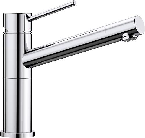 BLANCO ALTA Compact Küchenarmatur / Kompakter Einhebelmischer in Chrom / Niederdruck