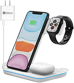 Moing Store 3-in-1 Qi-Certified 15W Wireless Charging Stand