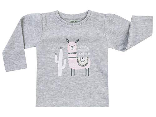Jacky Langarmshirt für Mädchen, Größe: 86, Alter: 13-18 Monate, Basic Line, Graumelange, 6131917