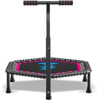 Mini studsmatta, fitness rebounder med justerbart skumhandtag, tränings studsmatta för vuxna inomhus/trädgårdsträning Max ...