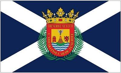 Fahne/Flagge Spanien - Teneriffa 90 x 150 cm Flaggen