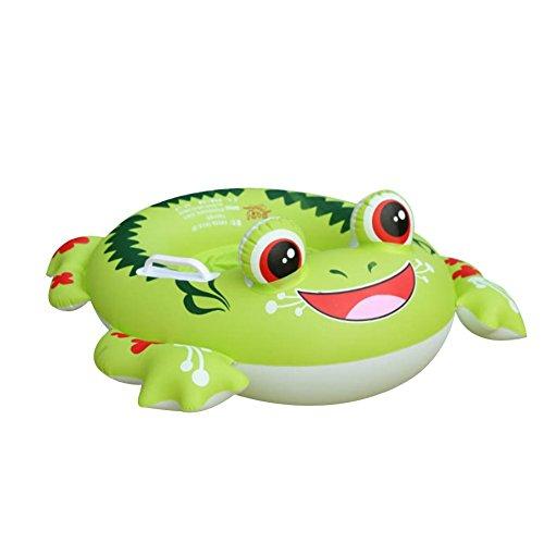Pusheng Aufblasbarer Frosch Schwimmring Luftmatratzen Schwimmhilfe Schwimmtrainer Baby (Grün)