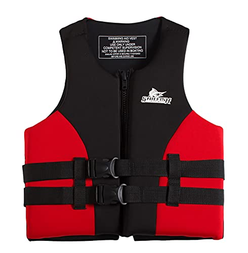 Lloow Chaleco Salvavidas para Deportes Acuáticos, Chaleco Salvavidas De Flotabilidad para Niños/Adultos, Chaleco Salvavidas Flotante De Supervivencia, para Pesca, Canotaje, Kayak, Surf,Rojo,XXXL