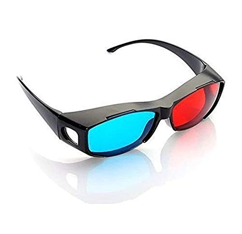 DIVISTAR 3pcs Azul y Rojo anteojos 3D Cian anaglifo Estilo Simple Gafas...