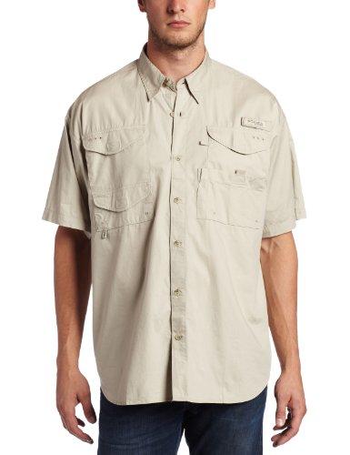 Columbia Men's Bonehead Short Sleeve Shirt, Fossil, XX-Large