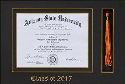 Amazon.com: Graduación Tassel 8 x 10 marco de fotos Caoba de ...
