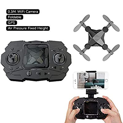 Mini Quadcopter Drone with HD Camera,4 Channel 2.4GHz RC Quadcopter with Altitude Hold and Headless Mode,Gravity Sensor Phone Control or Remote Controller,Portable Pocket Drone for Kids and Beginners