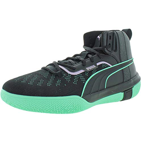 PUMA - Scarpe da basket da uomo Legacy Dark Mode, nero (Puma Black/Orchid Bloom), 47 EU