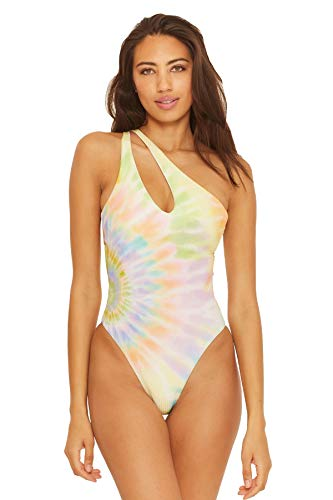 ISABELLA ROSE Women's Joni One Shoulder Cut Out One Piece Swimsuit Multi M