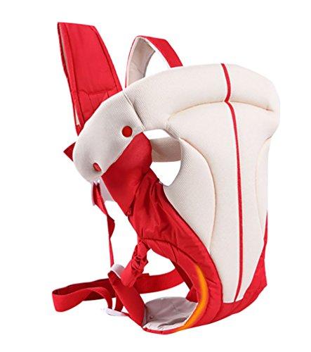 YOUJIA Classique Porte-bébés Réglable Baby Wrap pour Nouveau-nés, Enfant et les Tout-petits (Rouge)