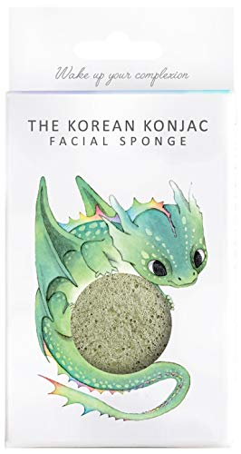 The Konjac Sponge Co éponge visage, vert – 1 unité