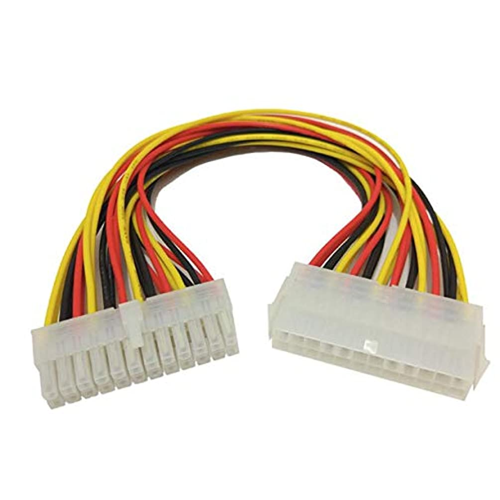 Connectors Omeshin New 24Pin Power Extension Cable ATX PC PSU Male and Female Port M/F Expander 24.5CM 17Aug04 - (Cable Length: 245cm)
