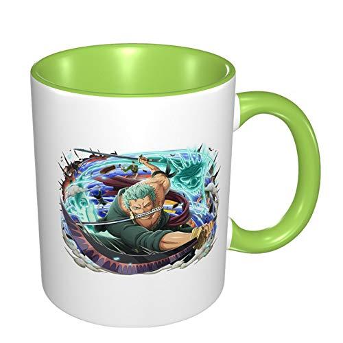 Vdaras Tazas de café Roronoa Zoro de paja sombrero piratas tazas de café adecuadas para capuchino, té, cacao, cereales