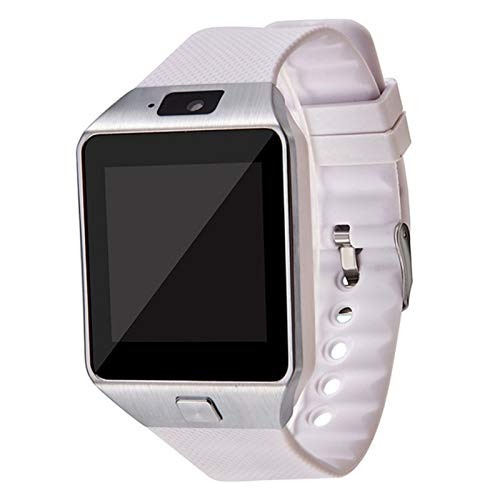 MPWPQ Cámara Maxinrytec Bluetooth Inteligente Reloj SmartWatch DZ09 Android Phone Call Relogio 2G gsm Tarjeta SIM for iPhone Samsung PK GT08 A1 (Color : White, Size : Without Retail Box)