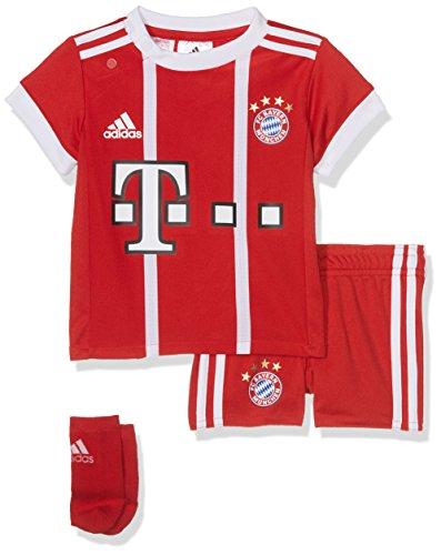 adidas Kinder FC Bayern Heim Kit Trikot Und Shorts, FCB True Red/White, 92