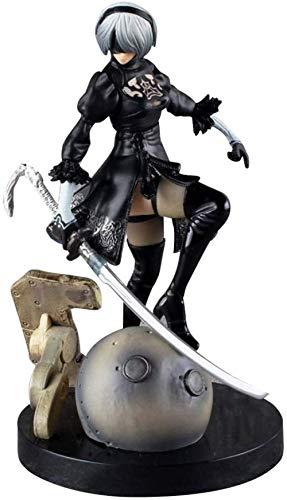 Jouet Statues Nier Automata 2B Yorha No.2 Type B PVC Figure Jouet Anime Cadeau-5.9 Pouces