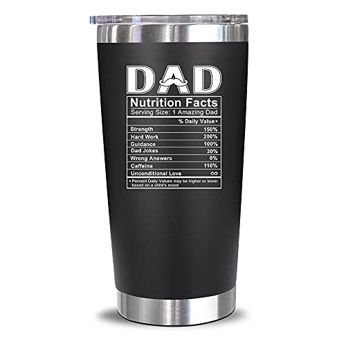 Gifts For Dad From Daughter, Son, Kids - Birthday Gifts For Dad - Christmas Gifts For Dad, Husband, Men - Best Dad Bday Present Idea For Father, Bonus Dad From Daughter, Son, Wife - 20 Oz Tumbler