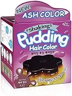 EZN Shaking Pudding Hair Dye Kit Color 4.61 Ash Pink No Ammonia Self Hair Dye Kit Contain Keratin Korean Beauty