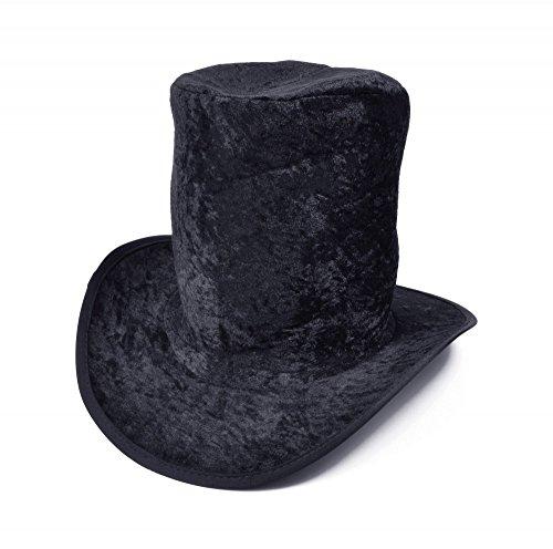 shoperama Cilindro sobredimensionado de terciopelo negro Rocker Slash Geister novio hombre