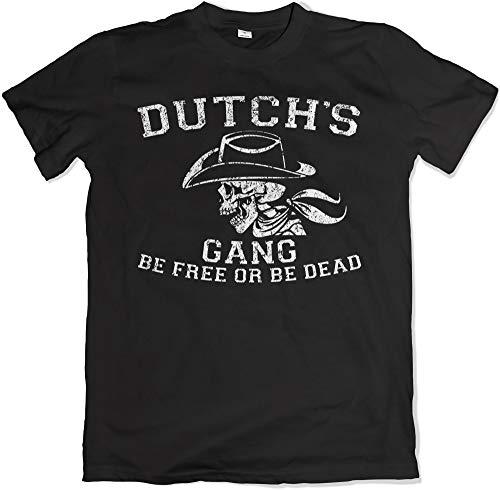 Teamzad Dutch's Gang Be Free Or Be Dead T Shirt Schwarz T Shirt XL