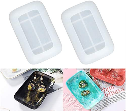 LET S RESIN Soap Dish Silicone Molds 2Pcs Rectanlgle Resin Jewelry Dish Molds Jewelry Tray Molds product image