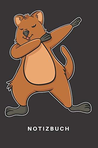 Notizbuch: Notizbuch   Notizheft   Schreibbuch   110 Seiten   Karo   Kariert   Karos   DIN A5  Quokka   Kurzschwanzkänguru   Känguru   Beuteltier   ...   Tier  Dabbing  Dab Tanz Tanzen Dabbin