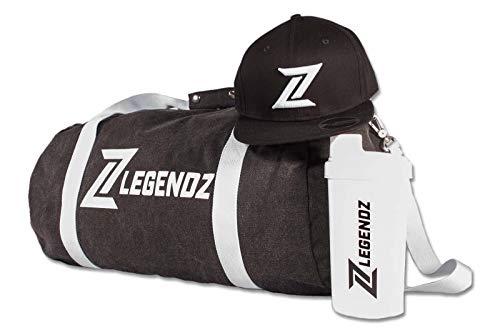 LegendZ - Set de iniciación para deporte, gimnasio, entrenamiento, culturismo, snapback, coctelera...
