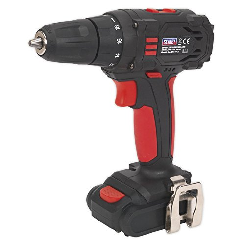 Sealey CP14VLD 2-Speed Cordless Lithium-Ion Drill/Driver, 14.4V, 1.3Ah, 10mm, Black