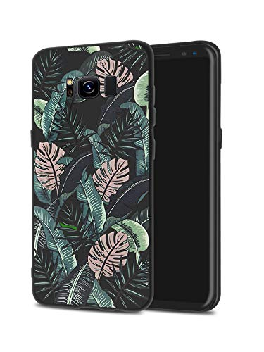 LuGeKe Monstera Leaves Flower Phone Case for Samsung Galaxy S10+ Plus, Palm Leaf Patterned Case Cover,Soft TPU Cover Flexible Ultra Slim Anti-Stratch Bumper Protective Boys Phonecase(Plants)