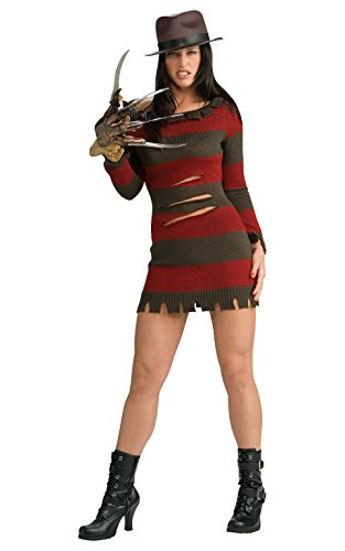 Rubie's Womens Official Miss Freddy Krueger Sexy Secret Wishes Costume,...