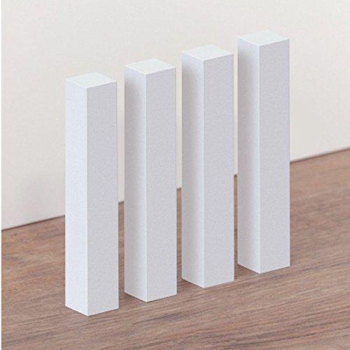 **TOPSELLER** Universal - Holzecken 18 x 18 x 118 Innen / Außen für Sockelleisten, Buche massiv, weiß lackiert