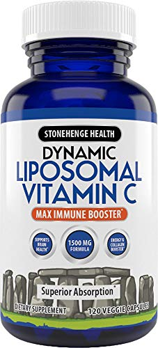 Liposomal Vitamin C 1500mg - 120 Capsules - Advanced Formula - Non-GMO Sunflower Lecithin - High Absorption & Fat-Soluble, Supports Immune System and Collagen Booster - Powerful Antioxidant