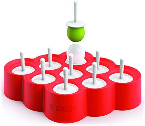 Zoku Slow Pop - Máquina para hacer paletas de hielo hace divertidos piñones de hielo Molde de silcono fácil de quitar, no es necesario correr bajo el agua. Diseños divertidos y coloridos. Sin BPA ni ftalatos.