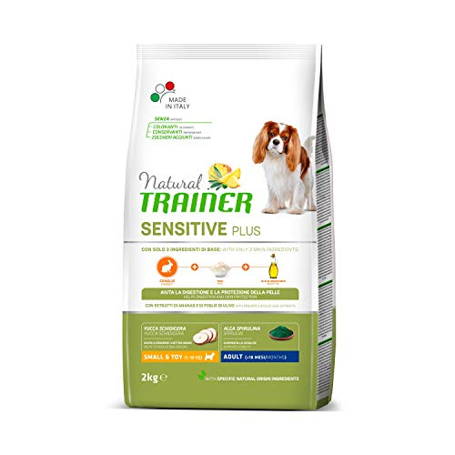 Trainer Natural Sensitive Plus - Cibo per Cani Mini-Toy Adulti con Coniglio e Riso - 2kg