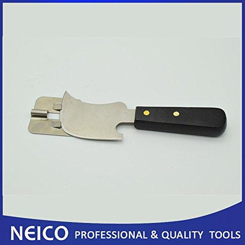 Couteau quart de lune haute qualité (plat) avec guide de coupe pour vinyle.