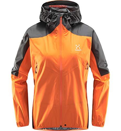 Haglöfs L.I.M Comp Chaqueta, 4NN-Flame Orange/Magnetite, L Mujer