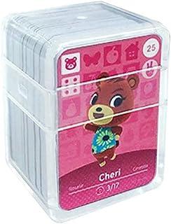 Schede di gioco NFC Tag per Animal Crossing, 24 pezzi Schede di gioco Nfc con custodia in cristallo compatibile con Ninten...